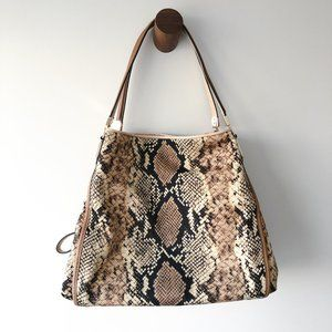 NWOT COACH Madison Python Print Phoebe Bag